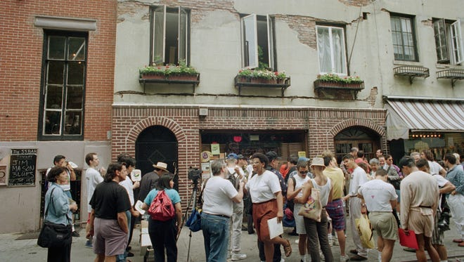 The landmark Stonewall Inn in New York's Greenwich Village, shown in 1994, was near the site of the shooting.