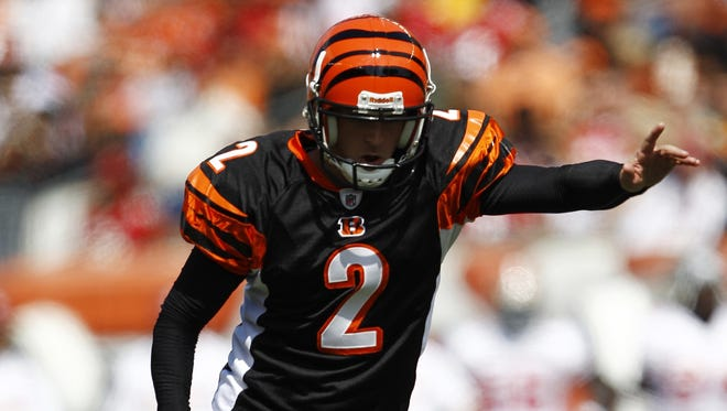 K Mike Nugent first joined the Bengals in 2010.