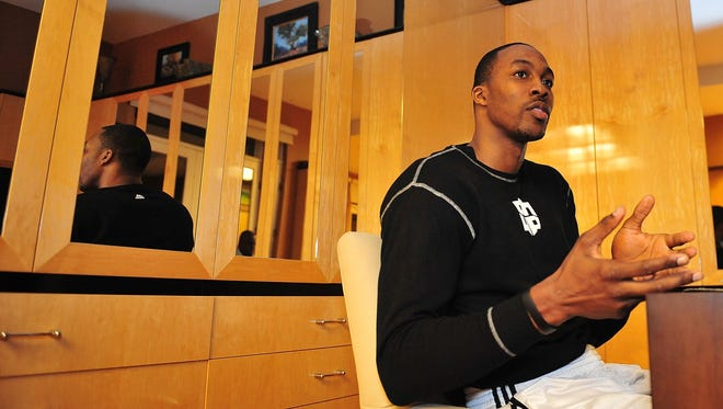 Lakers center Dwight Howard speaks with USA TODAY Sports from his home in Hollywood.