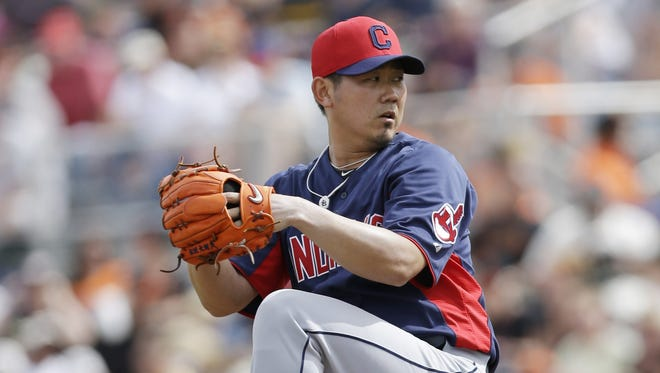 Cleveland Indians starting pitcher Daisuke Matsuzaka is attempting a comeback after having elbow-reconstruction surgery in 2011.
