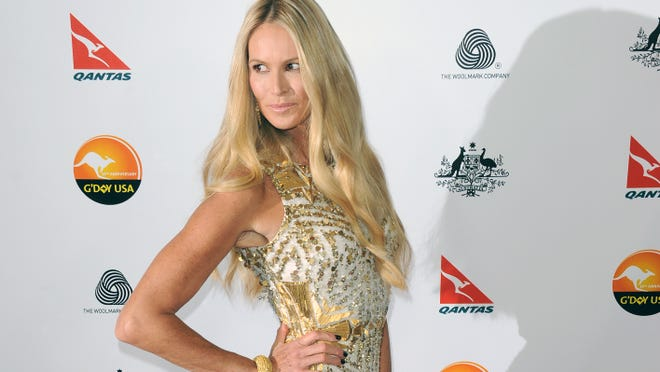 Elle Macpherson arrives at the G'Day USA Gala   in Los Angeles.