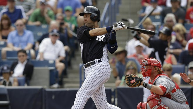 Derek Jeter went 0-for-2 in his second game as a designated hitter since returning from a broken ankle/