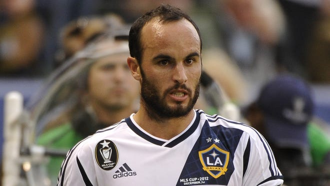 Major League Soccer star Landon Donovan