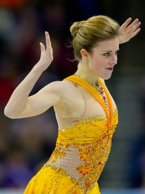 Ashley Wagner competes in the  free skate at the U.S. Figure Skating Nationals at the CenturyLink Center in Omaha on Jan. 26.