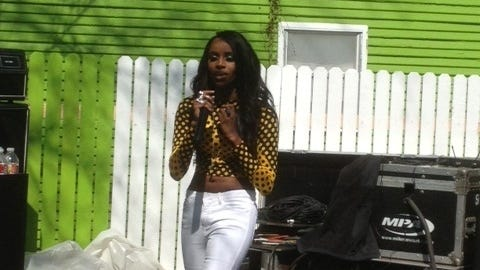 Rapper Angel Haze performing at Spotify House in Austin, Tex., during South By Southwest.