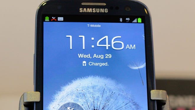 Samsung Galaxy SIII Android smartphone is displayed at a store in Glendale, California.