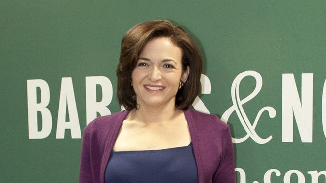 "Facebook COO Sheryl Sandberg promotes her new book ""Lean In: Women, Work and the Will to Lead"" on Tuesday in New York City."