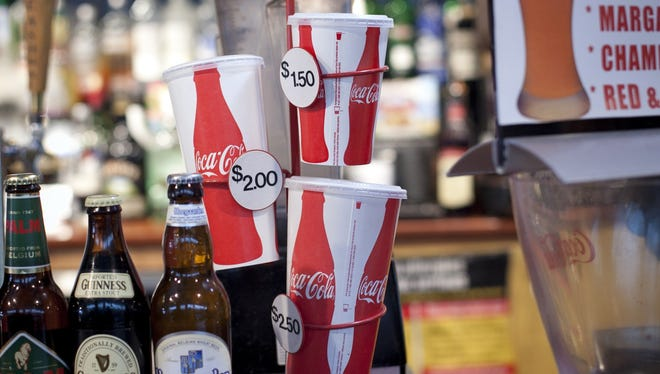 A judge halted a ban on large sugary drinks in New York City on Monday.