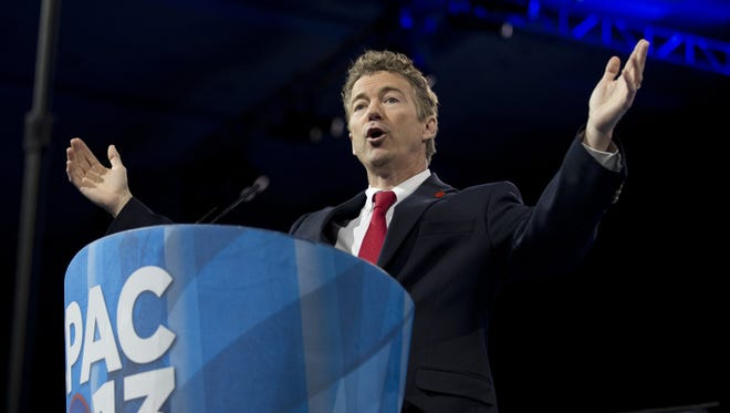 Sen. Rand Paul, R-Ky., speaks at the 40th annual Conservative Political Action Conference