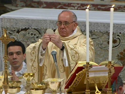 pope first mass