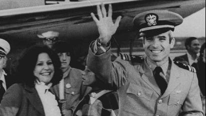 John McCain arrived at Jackson Naval Air Station on March 18, 1973, after being released from a Vietnamese prison.