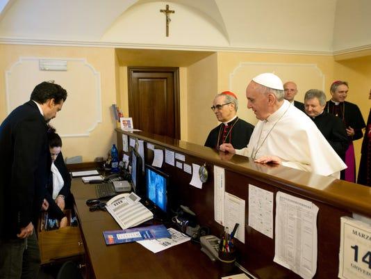 Pope pays bills