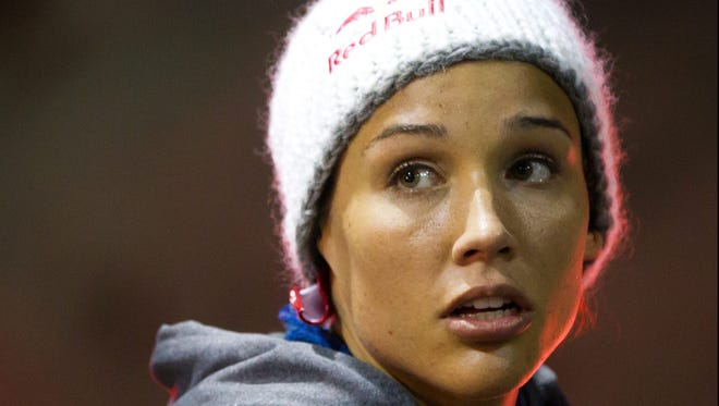Lolo Jones says she's competing in the bobsled because she is desperate to win an Olympic medal.