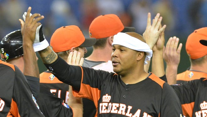 Andruw Jones, 35, has taken on a leadership role with the Netherlands' World Baseball Classic team.
