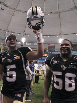 UCF celebrated after winning 10 games in 2012, but a tougher schedule will make it difficult to match that total this season.