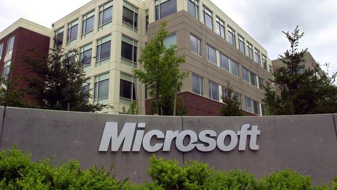 An exterior view of Microsoft headquarters in Redmond, Washington.