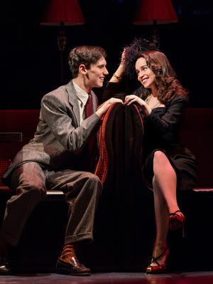 "Cory Michael Smith and Emilia Clarke in a scene from ""Breakfast at Tiffany's"" on Broadway."
