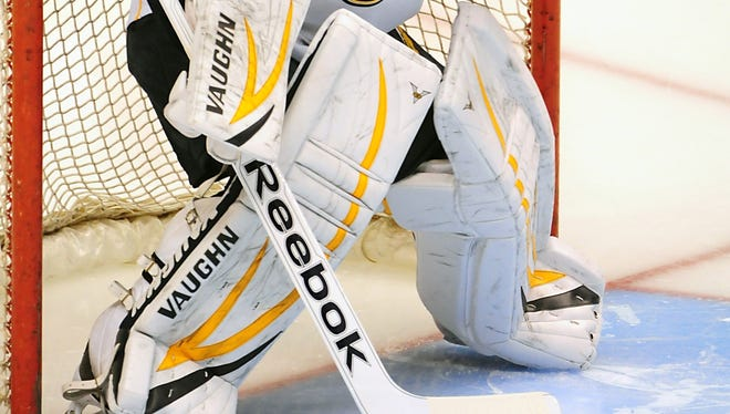 The league would goalie pads to be shorter and the knee area to be less bulky.