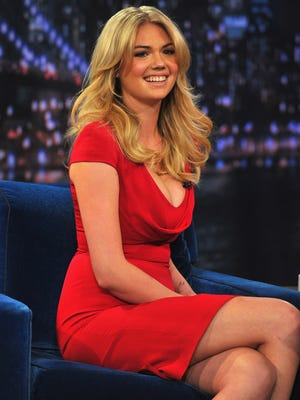 Kate Upton visits 'Late Night With Jimmy Fallon' at Rockefeller Center on Feb. 25.