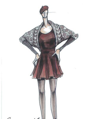 This is a sketch by Catherine Malandrino for DesigNation in partnership with Kohl's.