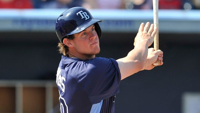 Outfielder Wil Myers, acquired in the offseason from the Royals, provides offense the Rays won't be able to ignore for long.
