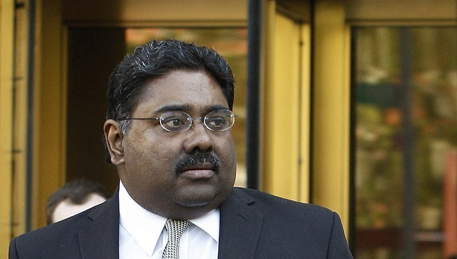 Raj Rajaratnam co-founder of  Galleon hedge fund group leaves U.S. District Court in this Nov. 8, 2011, file photo.