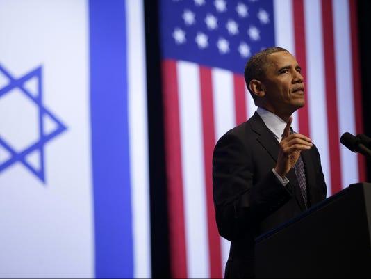obama israel students