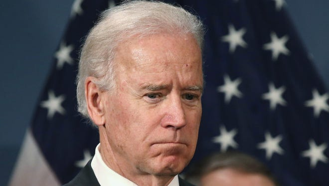 Vice President Biden attends a press conference in favor of gun control legislation on March 21, 2013 in New York City.