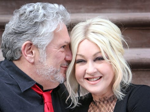 Cyndi lauper and harvey fierstein shoot in nyc for for Cyndi lauper broadway kinky boots