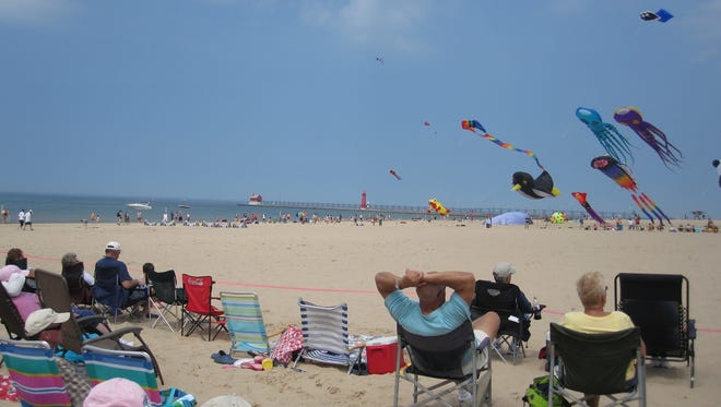 Grand Haven State Park in Michigan offers some of the best kite flying in the Midwest.