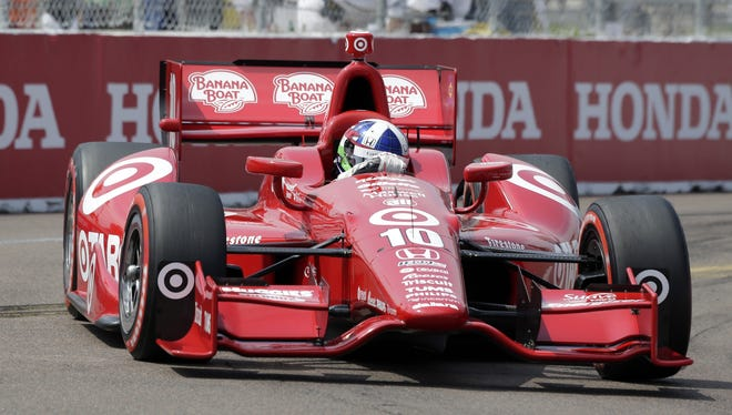 Four-time series champion Dario Franchitti qualified 10th for Sunday's Honda Grand Prix of St. Petersburg, the fastest time for Target Chip Ganassi Racing.