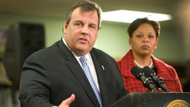 New Jersey. Gov. Chris Christie says he wants the state to intervene in the day-to-day affairs of the Camden school system. Camden Mayor Dana Redd is at right.