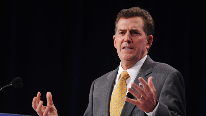 Former senator Jim DeMint, R-SC, speaks during The Family Research Council Action Values Voter Summit in  2012/