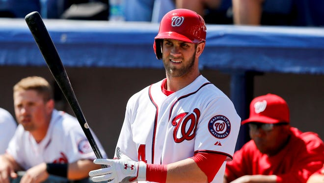 Nationals center fielder Bryce Harper was an All-Star and NL rookie of the year in 2012.