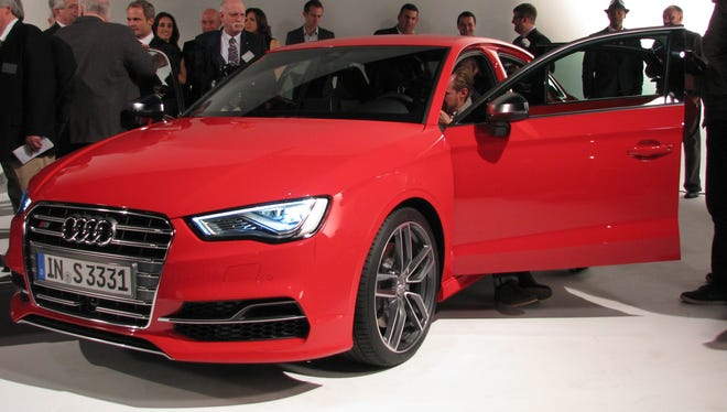 Audi lets the press get a quick look at the Audi A3 at a New York sound studio