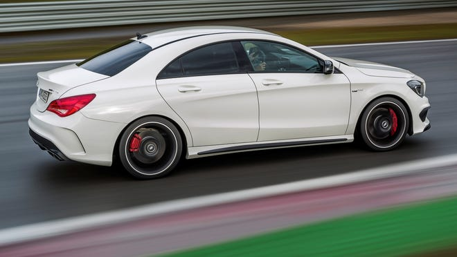 CLA 45 AMG takes some turns on the track