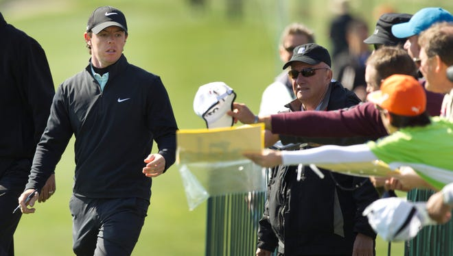 Rory McIlroy, playing in the pro-am Wednesday at the Shell Houston Open, is looking to tune up for the Masters this week.