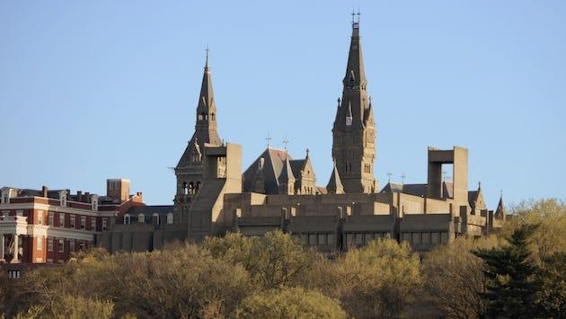 Panoramic view of Georgetown University Washington DC, USA