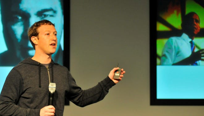 Facebook CEO Mark Zuckerberg answers questions during a media event at Facebook's headquarters in Menlo Park, Calif., on March 7.