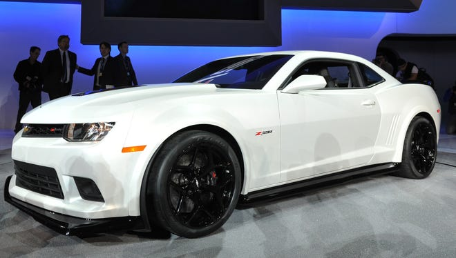 The new Chevrolet Z28 is unveiled during the first press preview day at the New York Auto Show
