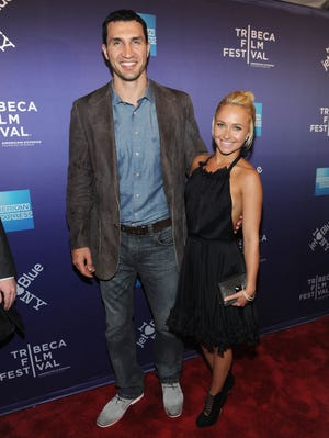 Boxer Wladimir Klitschko and actress Hayden Panettiere attend the premiere of 'Klitschko' during the 10th annual Tribeca Film Festival in 2011.