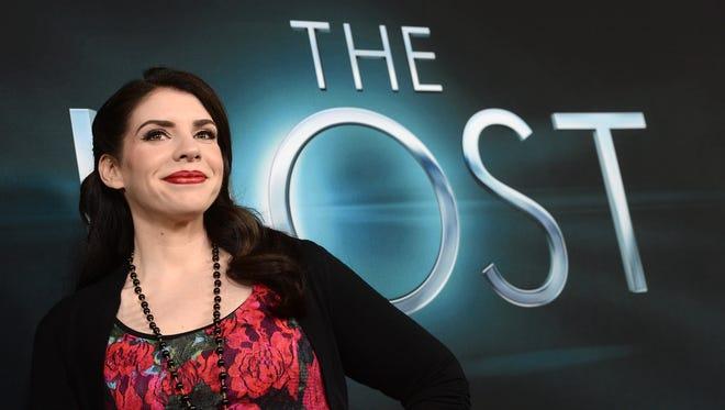 Producer/ Novelist Stephenie Meyer attends the premiere of 'The Host.'