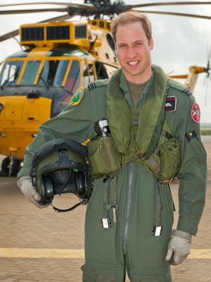 Prince William in June 2012. He may give up job flying Sea King helicopters at RAF base in Wales.