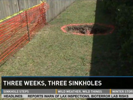 Three sinkholes