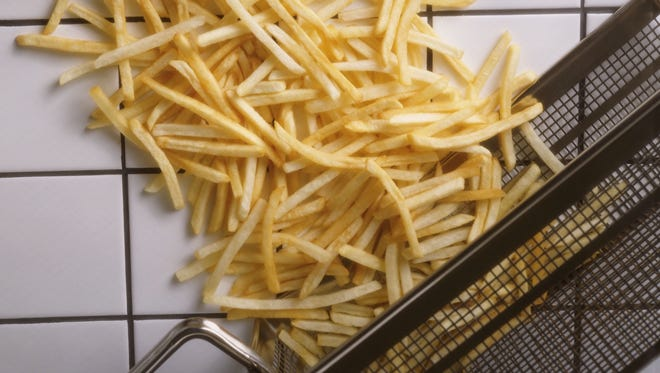 French fries are a popular item on kids' menus.