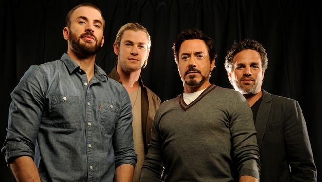 """Chris Evans, Chris Helmsworth, Robert Downey Jr. and Mark Ruffalo all play big roles in the movies included in a new """"Marvel Cinematic Universe"""" Blu-ray collection."""