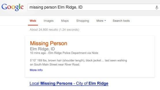 Alerts from police, fire and emergency management agencies will appear on Google maps and search pages beginning Friday.