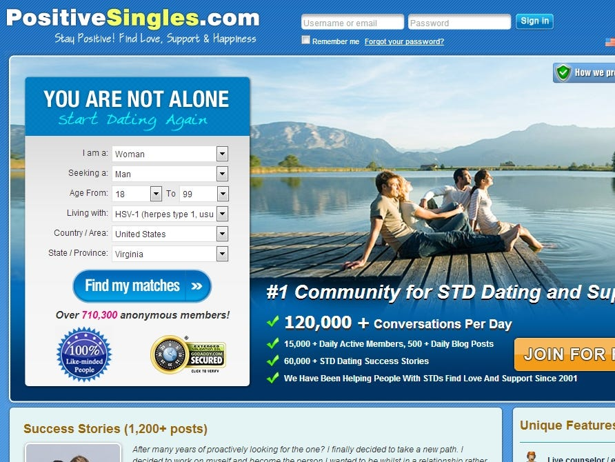 Age for dating websites