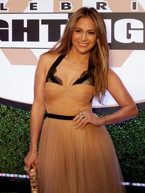 Jennifer Lopez arrives at Muhammad Ali's Celebrity Fight Night XIX  on March 2 in Phoenix.