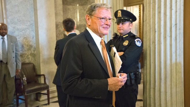 Sen. James Inhofe, R-Okla., said he is opposed to new restrictions on gun owners.